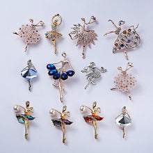 Load image into Gallery viewer, RINHOO Gymnastics Girl Flower Dancer Crystal Brooches for Women Cute Pin Bijouterie High Quality Corsage Fashion Wedding Jewelry