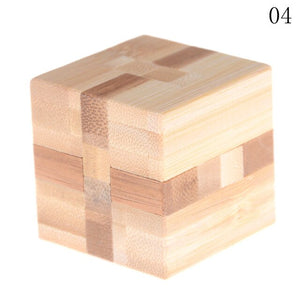 10Styles Kong Ming Luban Lock Adult Intellectual Brain Tease Game Puzzle Kids Children 3D Handmade Wooden Toy