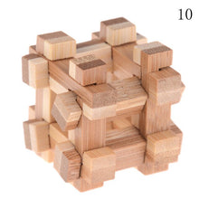 Load image into Gallery viewer, 10Styles Kong Ming Luban Lock Adult Intellectual Brain Tease Game Puzzle Kids Children 3D Handmade Wooden Toy