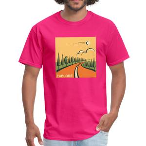 Explore Men's T-Shirt - fuchsia