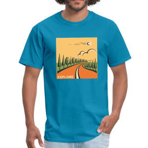 Explore Men's T-Shirt - turquoise