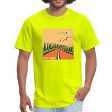 Load image into Gallery viewer, Explore Men's T-Shirt - safety green