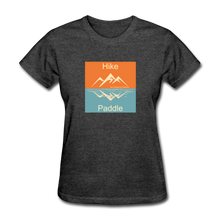 Load image into Gallery viewer, Hike - Paddle KZO Women's T-Shirt - heather black