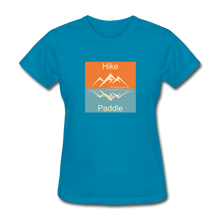 Load image into Gallery viewer, Hike - Paddle KZO Women's T-Shirt - turquoise