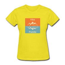 Load image into Gallery viewer, Hike - Paddle KZO Women's T-Shirt - yellow