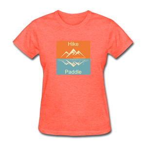 Hike - Paddle KZO Women's T-Shirt - heather coral