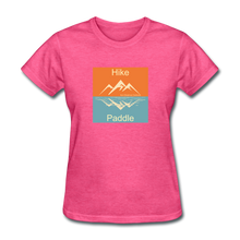 Load image into Gallery viewer, Hike - Paddle KZO Women's T-Shirt - heather pink