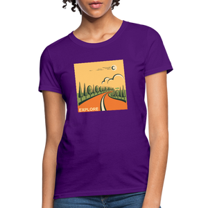 Explore Women's T-Shirt - purple