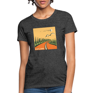 Explore Women's T-Shirt - heather black