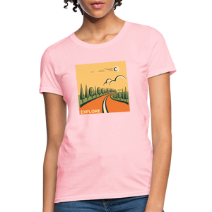 Explore Women's T-Shirt - pink
