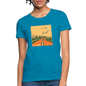 Explore Women's T-Shirt - turquoise