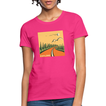 Load image into Gallery viewer, Explore Women's T-Shirt - fuchsia