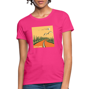 Explore Women's T-Shirt - fuchsia