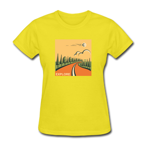 Explore Women's T-Shirt - yellow