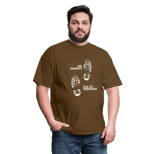 Go Outside and Do Something Men's T-Shirt - brown