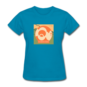 KZO Big Dumb Face Women's T-Shirt - turquoise