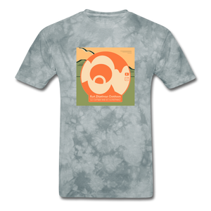 KZO Big Dumb Face Men's T-Shirt - grey tie dye