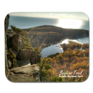 Beehive Trail Mouse Pad - white