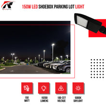 Load image into Gallery viewer, 150W LED Shoebox Parking Lot Light