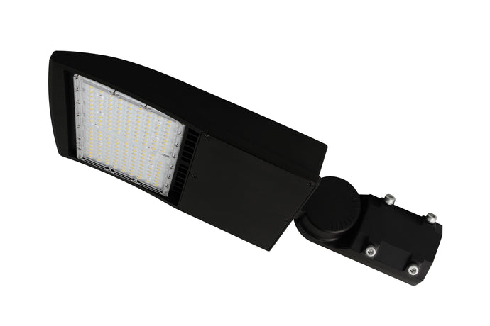 LED Shoebox Light, LED Parking Lot Light, AM Bracket, LED Street Light 150w, 19,200 LM, 5000k, IP65 AC 100-277Vac, UL, cUL, DLC Replaces 600w Metal Halide - Rayz lighting INC 00