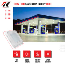 Load image into Gallery viewer, 180W LED Gas Station Canopy Light