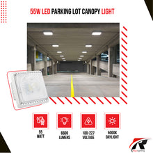 Load image into Gallery viewer, 55W LED Canopy Light