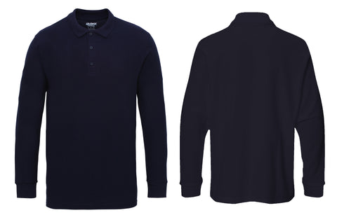 GD048 Premium Cotton® long sleeve double piqué polo