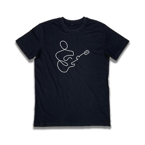 Guitar Player Line Design T-Shirt