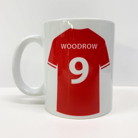 Personalised Sports Football Kit Mug