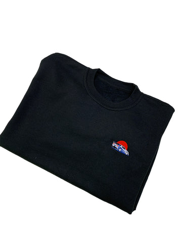 Brian's Skyline Embroidered Crew Neck Sweatshirt