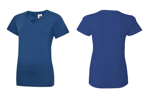 Ladies Classic V Neck T Shirt UC319