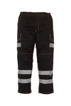 Hi-vis polycotton cargo trousers with knee pad pockets (HV018T/3M) YK073