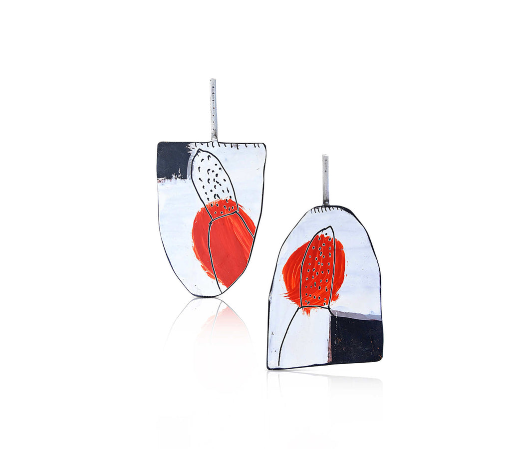 Jane Reilly - Apron - white, black, red