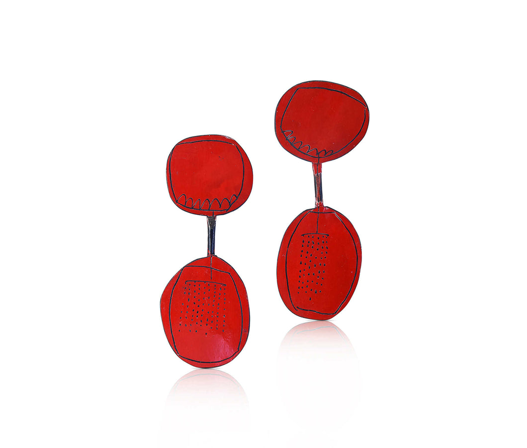 Jane Reilly - Spoon Cutlery - Red