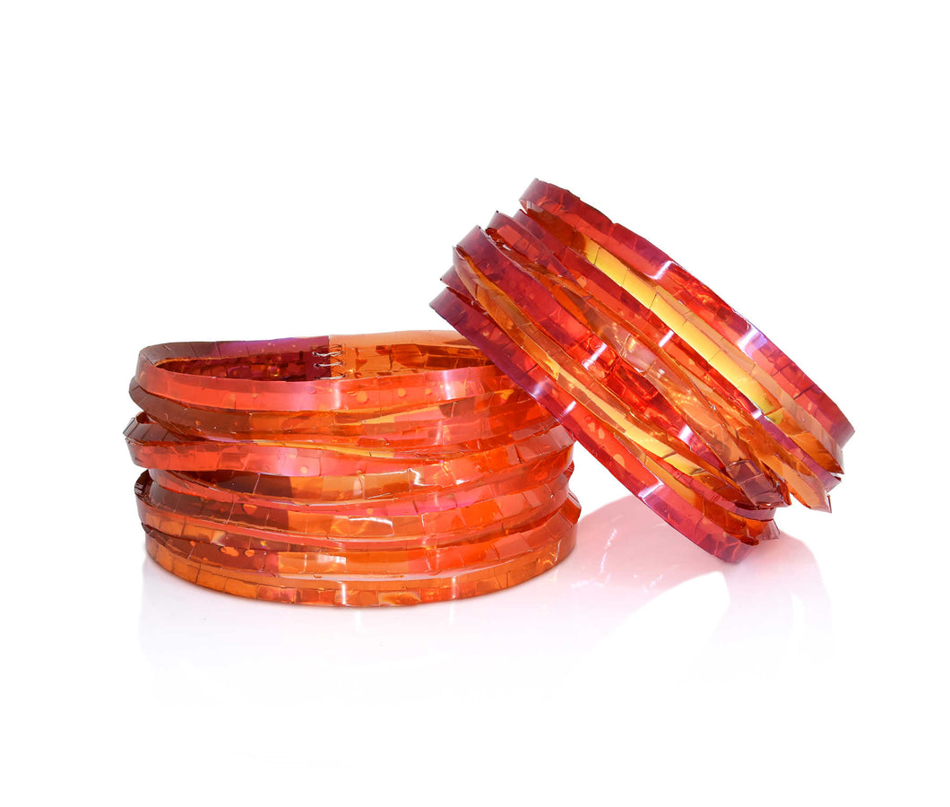 Kath Inglis - Waterhole cuff – reds and orange