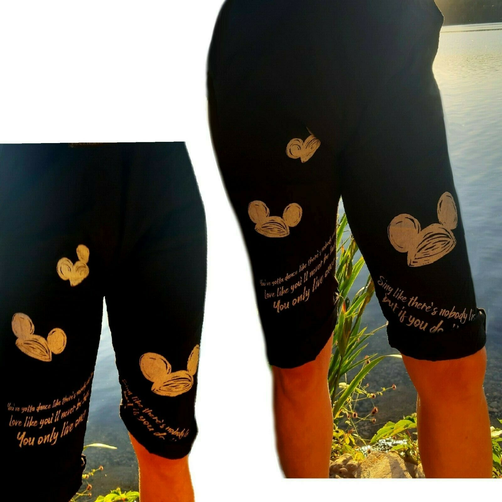 Mickey Mouse Comic Italy Beach Graffiti Boyfriend Baggy Short kurze Hose Sport