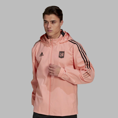 adidas LAFC All Weather Jacket Pink