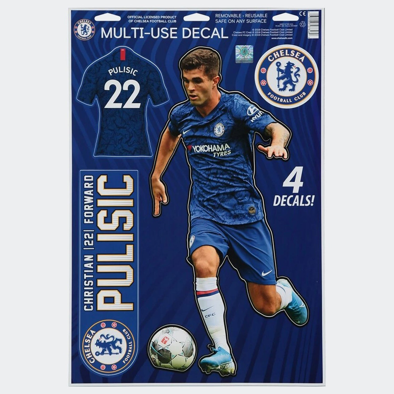 Pulisic Chelsea Decal 11x17