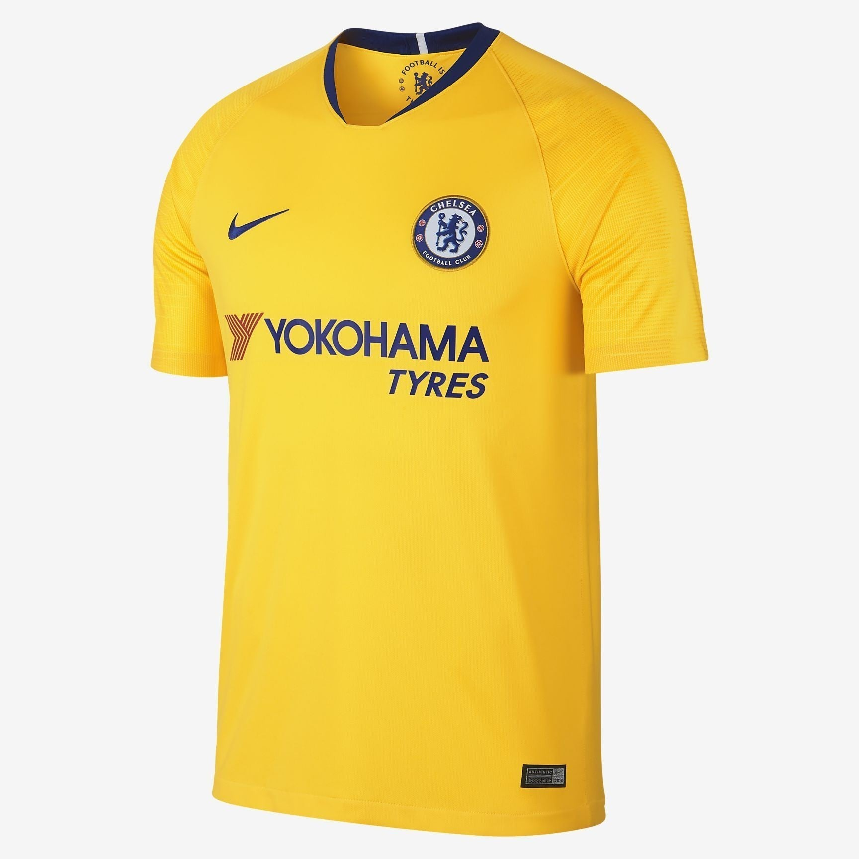 Men's Chelsea 18/19 Away Jersey - Yellow/Blue