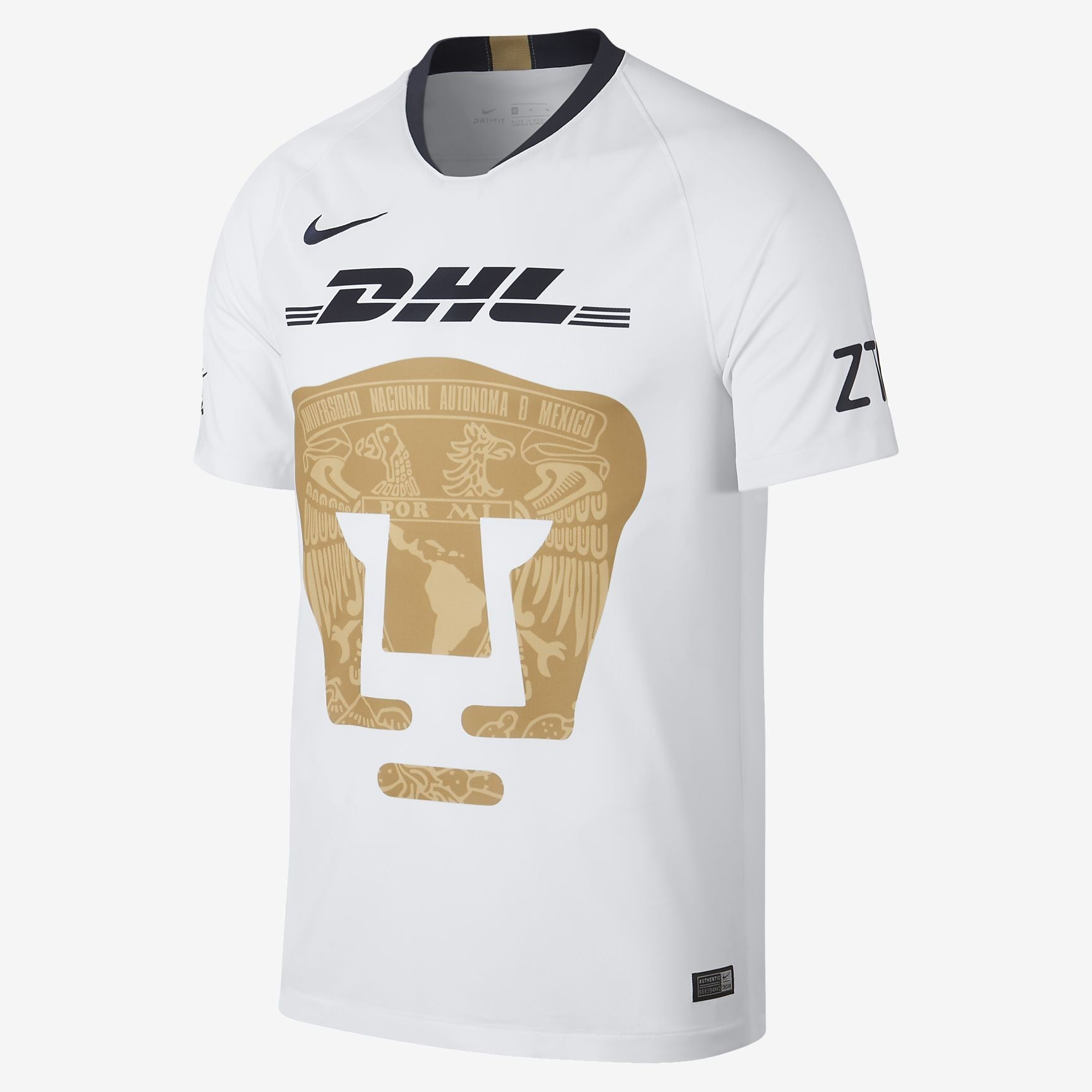 Men's U.N.A.M. Pumas 18/19 Home Jersey - White/Truly Gold