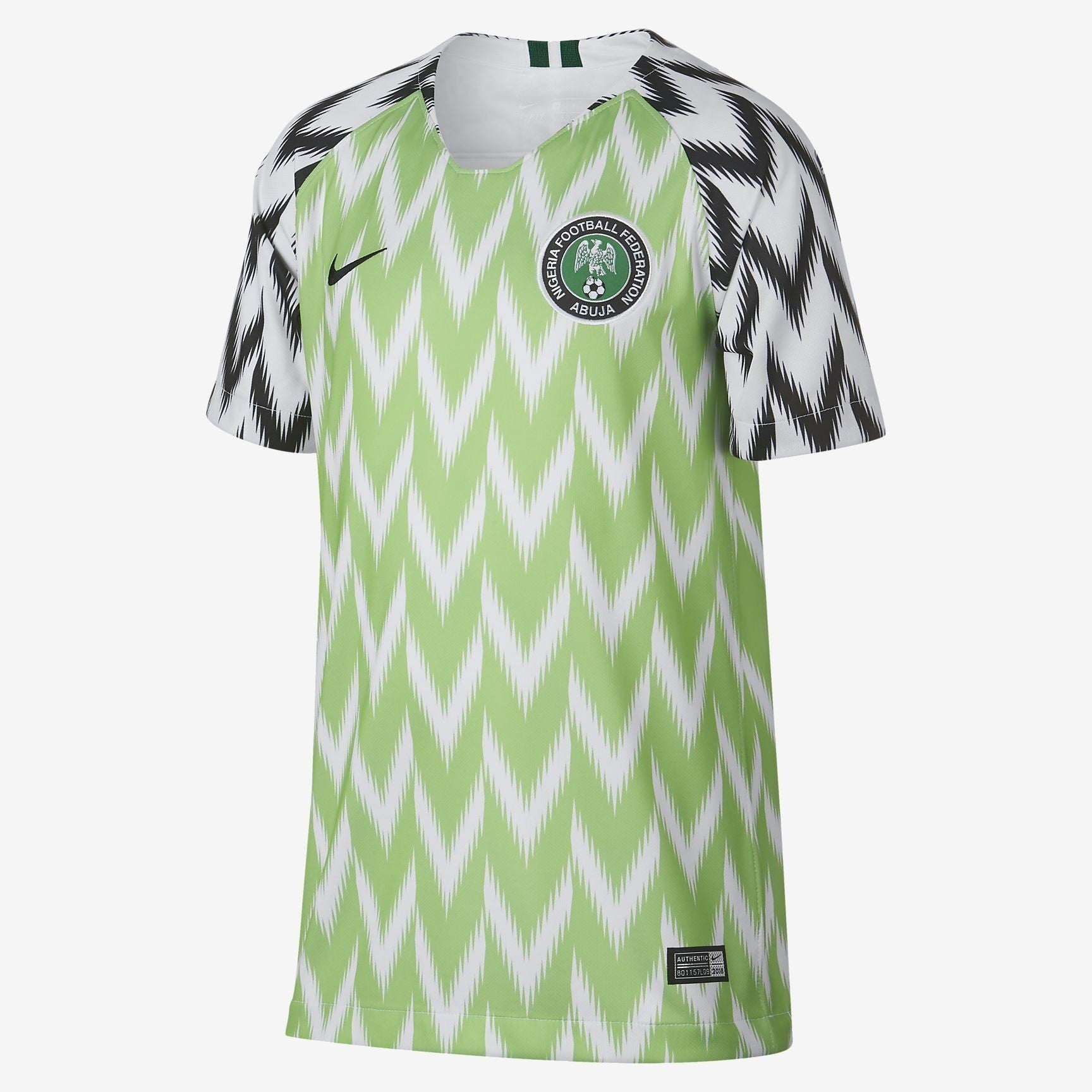 Kid's Nigeria Stadium Home Jersey - White/Black