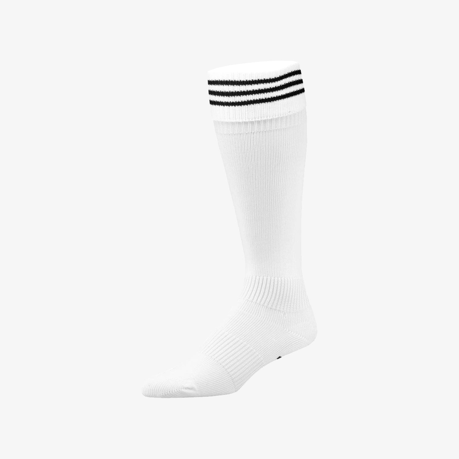 3-Stripe Soccer Sock White - Large
