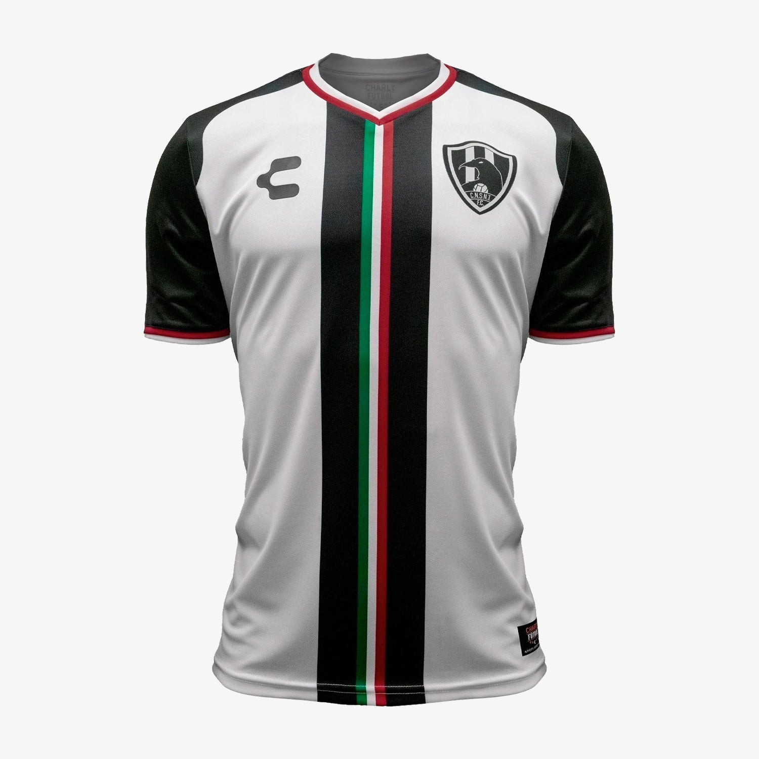 Mens C.N.S.N.T Cuervos 18/19 Home Soccer Jersey - White/Black/Green/Red
