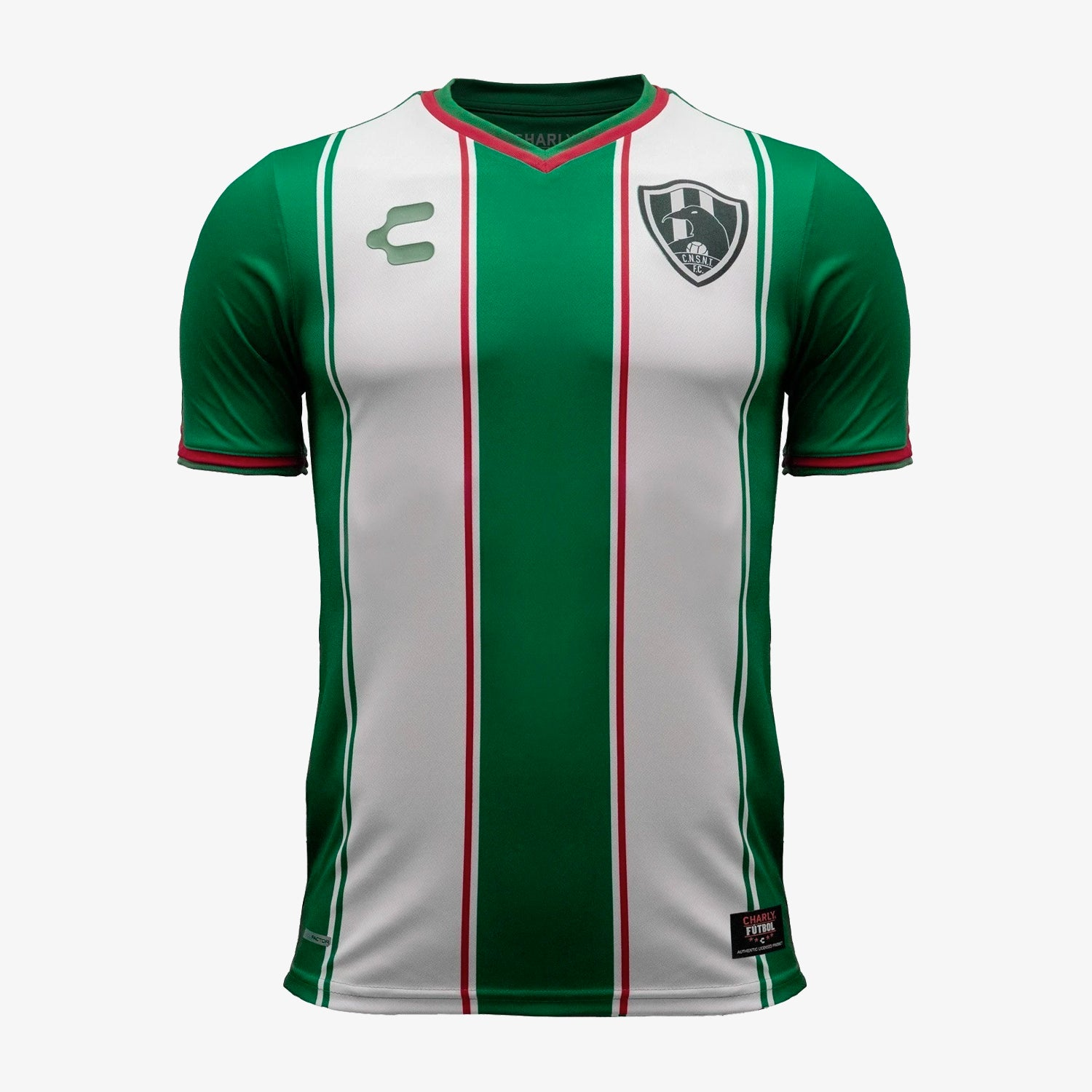 Mens C.N.S.N.T Cuervos 18/19 Away Soccer Jersey - Green/White/Red