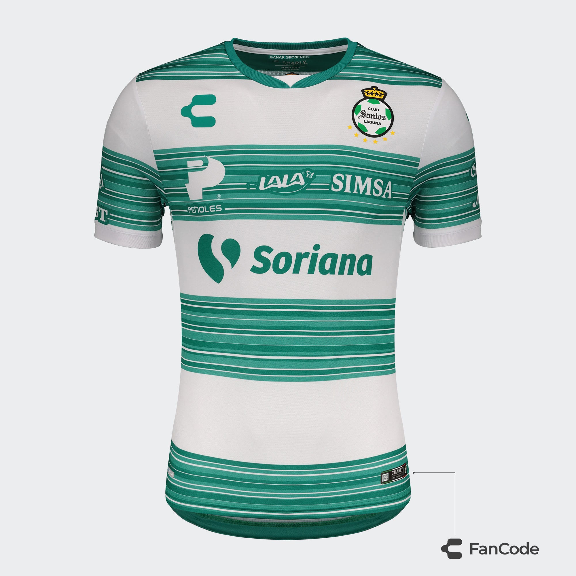 Hombre Santos Laguna Playera Local 20-21 / Men's Santos Laguna Home Jersey 20-21