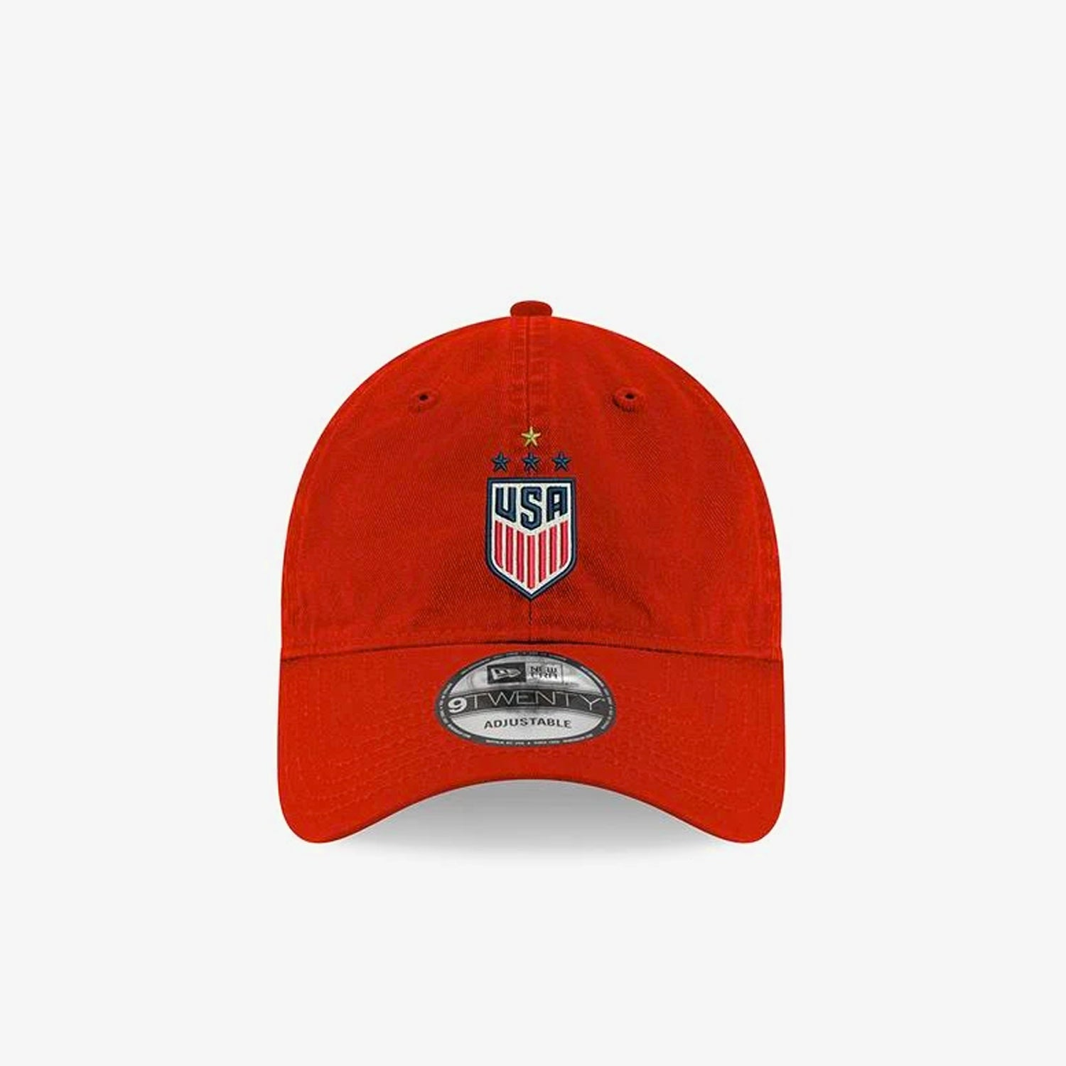 USA Women's 4-Star Adjustable Hat - Red