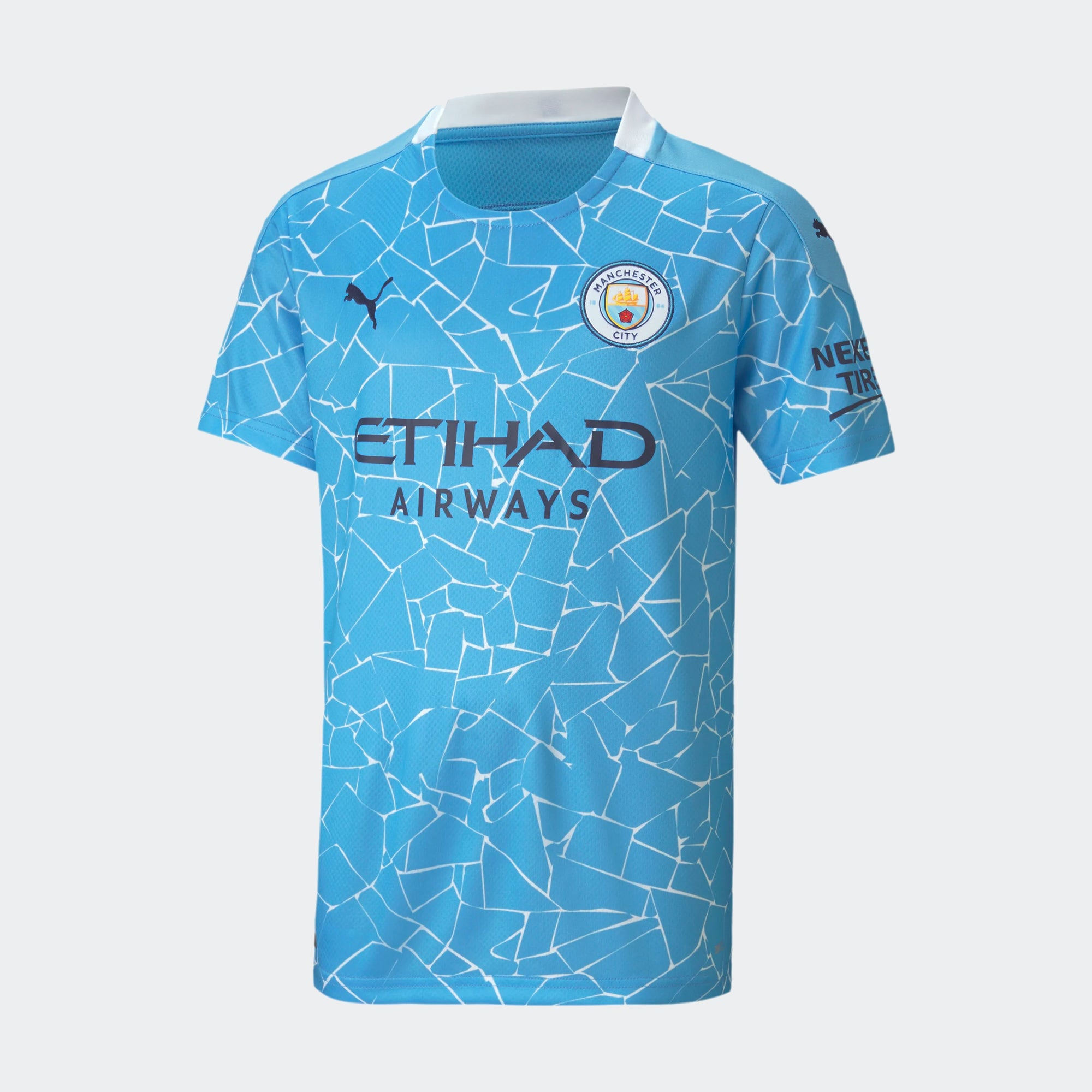 Youth Manchester City Home Soccer Jersey 20-21