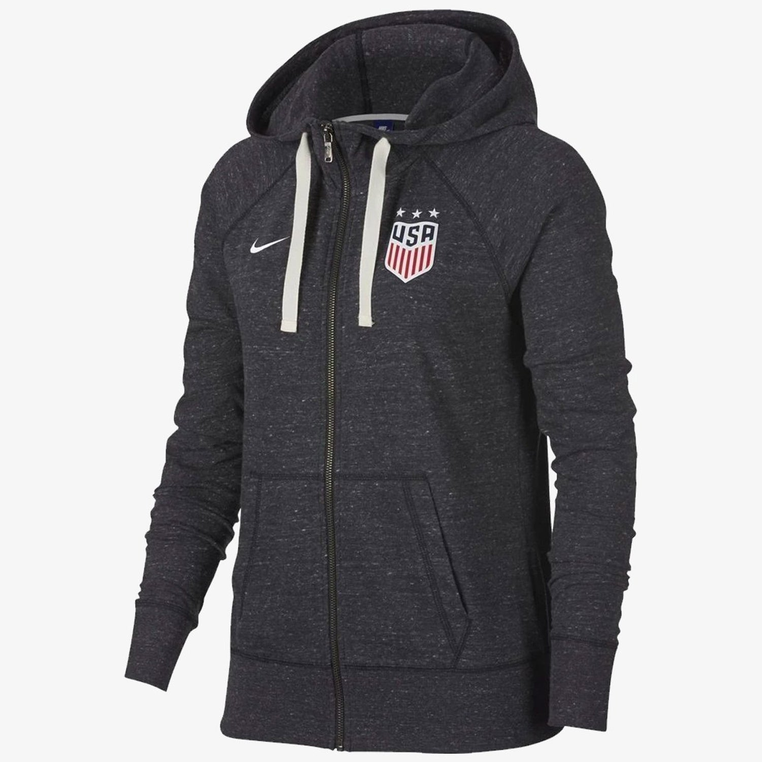 Women's USA Gym Vintage Hoodie - Grey/White