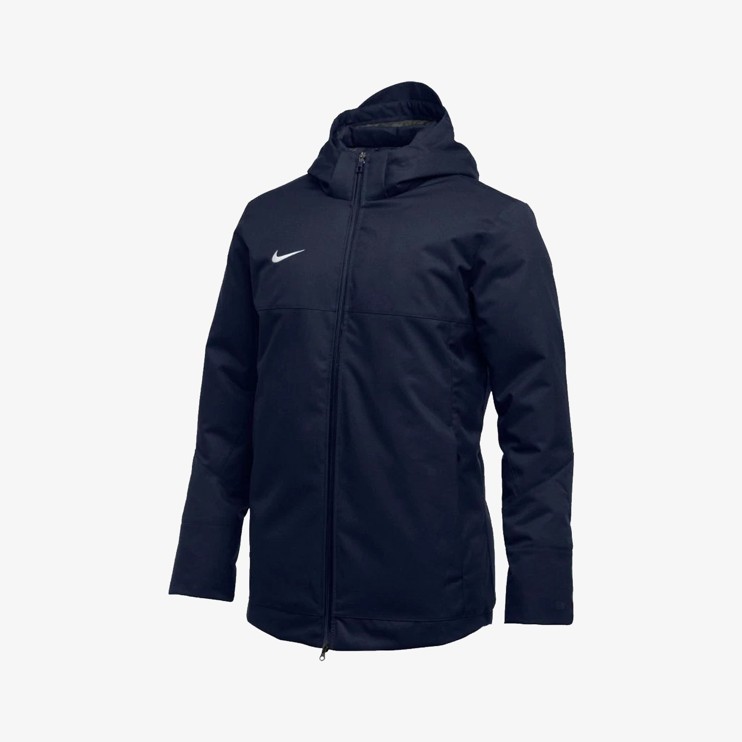 Men's Team Down Fill Parka Jacket-Navy