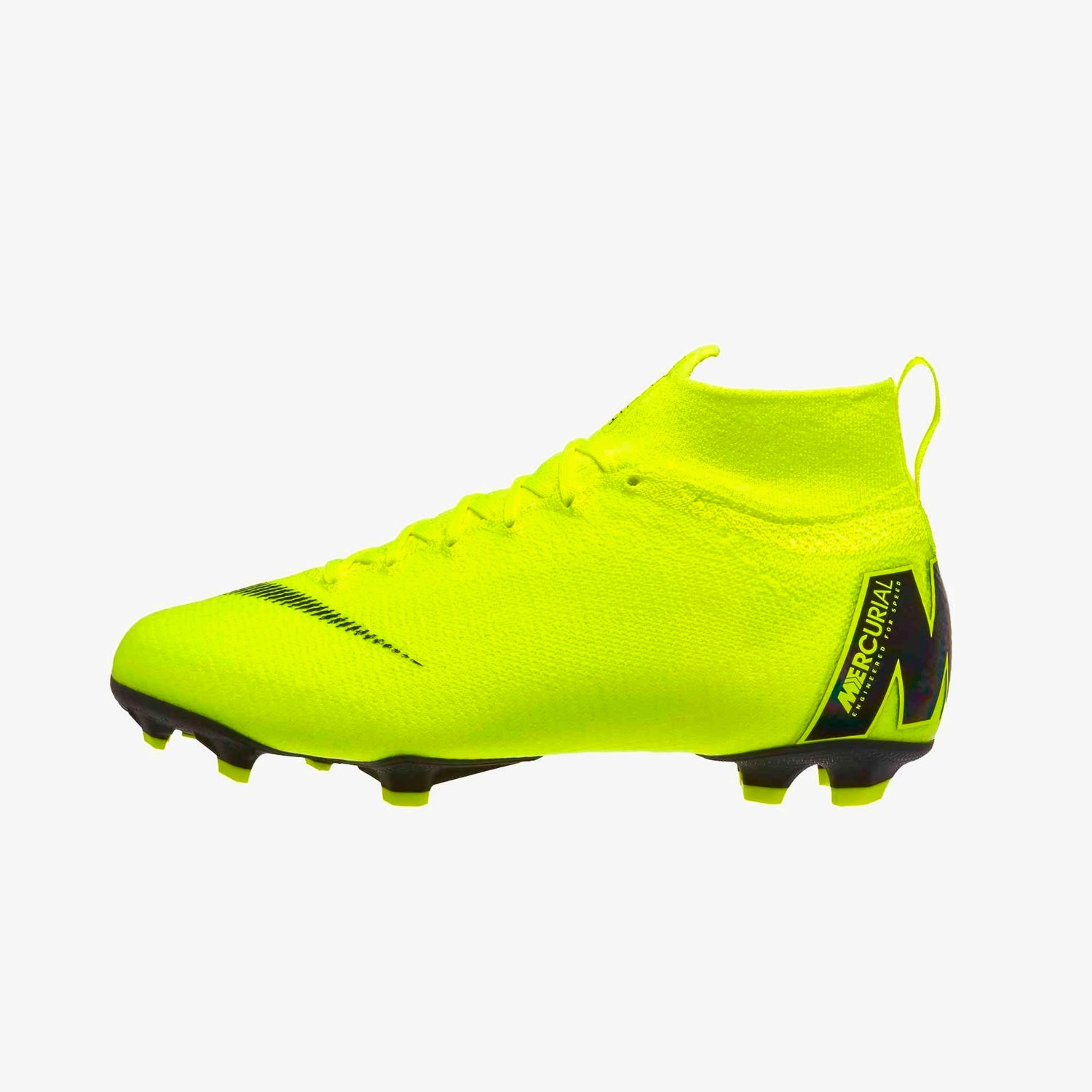 Jr. Superfly 6 Elite Firmground Soccer Shoes - Volt